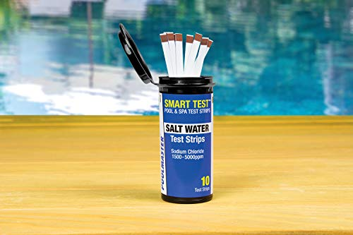 Price comparison product image Poolmaster (22210 (10 Count) Salt Swimming Pool and Spa Water Chemistry Testing Strips,  1 Pack,  White