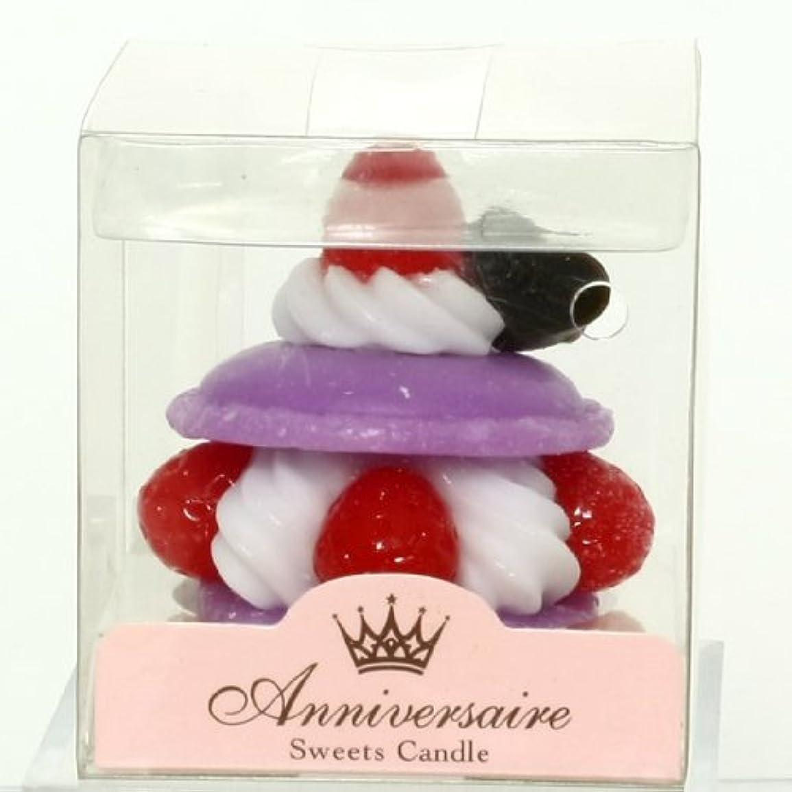 吹雪書士アボートスイーツキャンドル(sweets candle) マカロンケーキキャンドル【パープル】