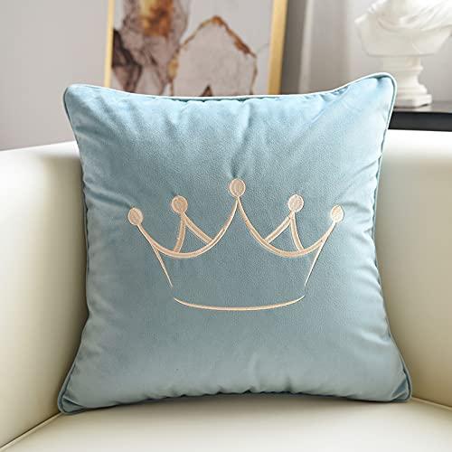 MRBJC Cojín cuadrado decorativo para el hogar, 100% algodón, elegante patrón nórdico para sala de estar, dormitorio, sofá, coche, 45 x 45 cm
