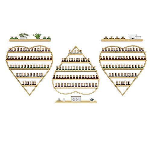 An der Wand montierter Nagellack-Präsentationsständer, 5-Lagen-Wandregal aus Metall mit großer Kapazität, Parfüm-Aufbewahrungsregal für ätherische Kosmetiköle, geeignet für Familiensalon-Nagelstudio