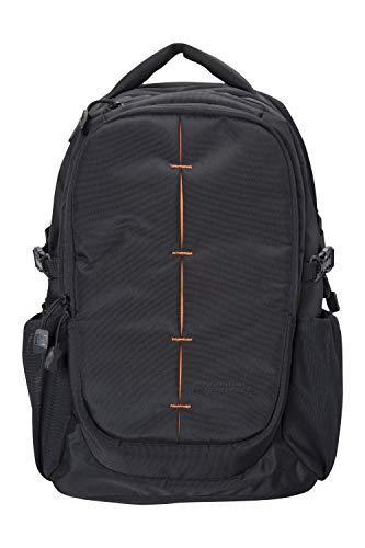 Mountain Warehouse Vic Laptop-Tasche - 30 Liter - Strapazierfähiger Tagesrucksack, Laptop-Fach, Innenfächer, Schlüsselclip - Für ganzjähriges Reisen, Camping, Frühling Schwarz Einheitsgröße