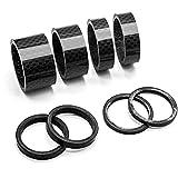 HQCM 8 anillos espaciadores de aluminio para bicicleta de montaña, de carreras, espaciadores de carbono, 3/5/10/15/20 mm