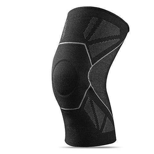 LHQ-HQ Soporte de Rodilla Protectora de 1 Pieza Ligero, elástico, cómodo Transpirable, para Artritis, Deportes, Correr, Baloncesto, Hombre, Mujer