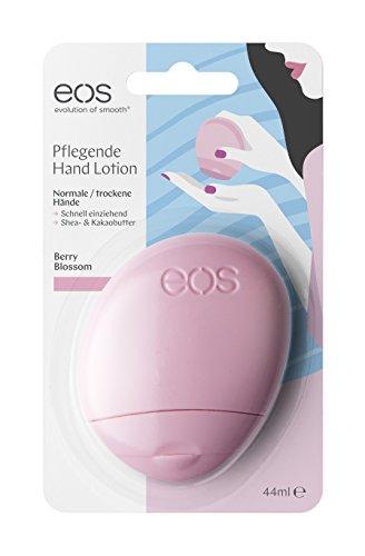 Eos Hand-Lotion Berry Blossom, Handcreme Für Normale Haut, Vegane Feuchtigkeitscreme, Intensiv-Pflege Für Zarte Hände, Mit Sheabutter & Aloe, 1 X 44 Ml