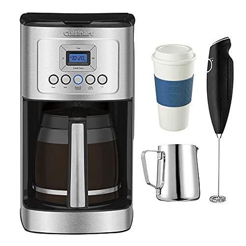Cuisinart DCC-3200 Perfect Temp 14-Cup Programmable Coffeemaker Stainless Steel (Certified Refurbished) w/Coffee Drinker Bundle