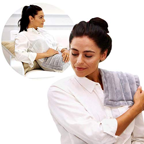 Heating Pad Solutions Microwaveable Heat Pack - Microwave Heat Bags for Pain Relief | Heat Patches for Back Pain, Shoulder and Neck | Weighted Compress - Lavender Scent