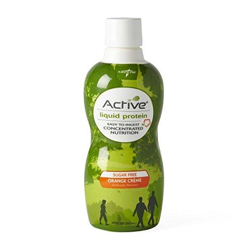 Medline ENT693SFOC Active Liquid Protein, Sugar-Free Orange Cream, 30 Ounces and 16 Grams of Protein, 1 Bottle