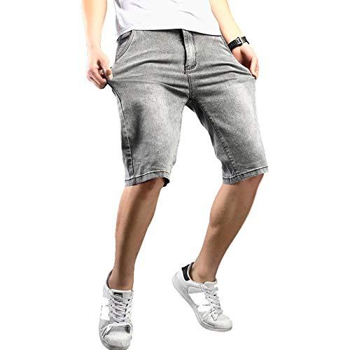 Pantalones Cortos de Mezclilla para Hombre, Tendencia de Verano, nuevos Pantalones Cortos de Mezclilla con Herramientas Retro Informales, Pantalones Cortos de Mezclilla Sueltos, Rectos, Casuales, 30