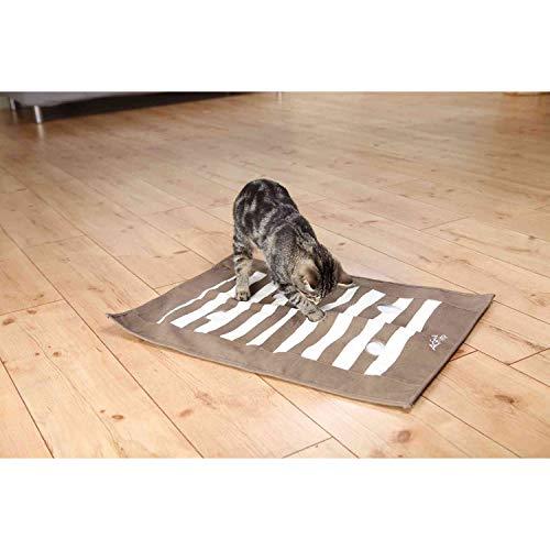 Trixie 46005 Cat Activity Pföteldecke, 70 × 50 cm, braun/creme