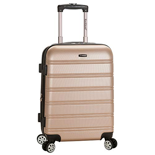 Rockland Melbourne Hardside Expandable Spinner Wheel Luggage, Champagne, Carry-On 20-Inch