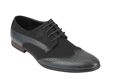 Zapatos Xposed de piel sintética para hombre, color negro, marrón, azul marino,...