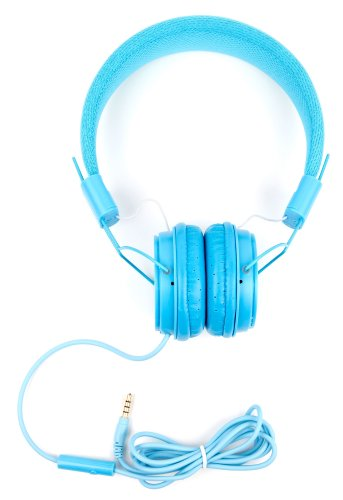 DURAGADGET Lightweight Kids' Headphones (Blue) with Padded Headband - Compatible with Kurio TAB Connect 7 Inch Tablet & Kurio Snap Camera