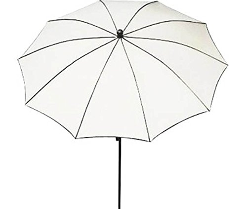 PEGANE Parasol Rond, Tissu dralon Coloris Blanc - Dim : 140/10 - D 280 cm