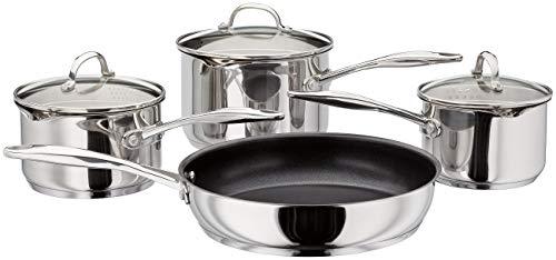 Stellar 7000 Afvoer 4-delige pan pan pan Frypan Set | Inductie & alle soorten kookplaat