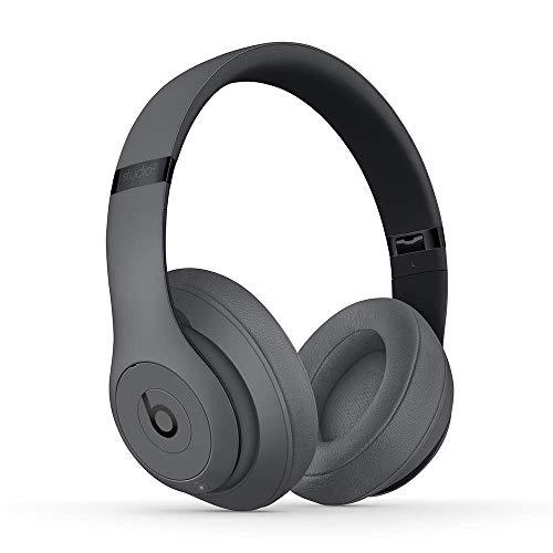 Beats Studio3Wireless Cuffie con cancellazione del rumore – Chip per cuffie AppleW1, Bluetooth di Classe 1, cancellazione attiva del rumore, 22 ore di ascolto–Grigio (Ricondizionato)