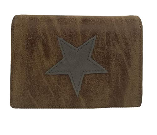 Treend24 Elegant dames ster portemonnee geld portemonnee zak eenvoudig mat portemonnee brief tas met veel vakken kaarten
