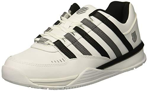 K-Swiss Herren Baxter Sneaker, Weiß (White/Black/Charcoal 167), 44 EU