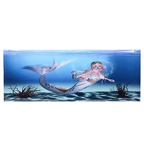 Aquarium achtergrond, 3D effect onderwater poster PVC zelfklevende decor sticker zelfklevende stickers (122 * 46cm)