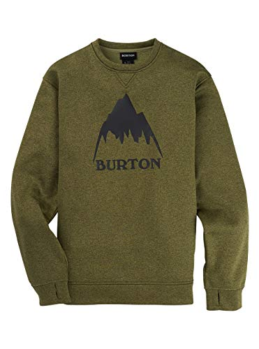 Burton Herren Oak Fleece Pullover, Martini Olive Heather, L