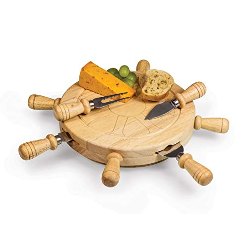 TOSCANA - a Picnic Time Brand Mariner Cheese Board and Tool Set