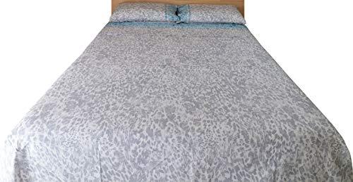 KISENE Set Composto da 8 Eleganti Asciugamano Ospite in Morbidissima Spugna di Puro Cotone Tinta Unita Blu