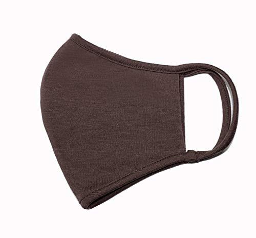 Weri Speciaal gezichtsmasker mondmasker, bandana, multifunctionele doek, stofmasker – mond, adem, stof, lucht, gezichtsdoek, mond- en neusmasker Voor wandelen, sport en vrije tijd. Medium chocolade