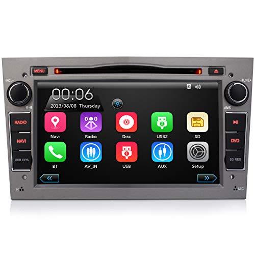iFreGo 7 Zoll 2 Din Autoradio für Opel Astra, Corsa, Vectra, Zafira, Antara,Meriva, Vivaro. FM Radio, Autoradio Bluetooth DAB+, GPS,DVD, CD,USB SD RDS,Radio unterstützt Lenkradsteuerung