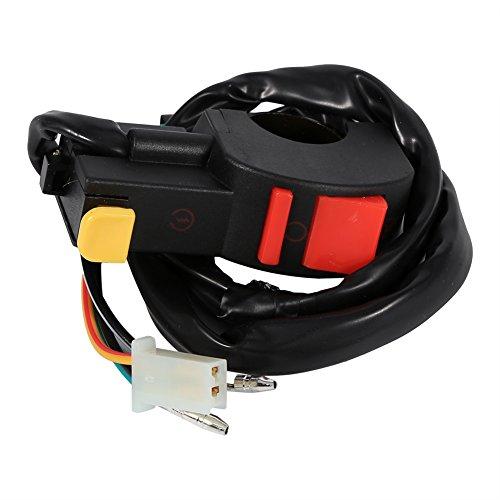 Interruptor de arranque de 4 vías para motos, 7/8 pulgadas, interruptor de encendido/apagado