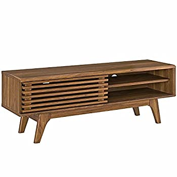 Modway Render 48  Mid-Century Modern Low Profile Media Console TV Stand 48 Inch Walnut