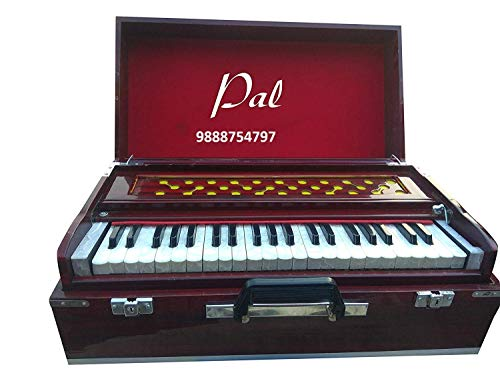 PAL MUSIC HOUSE Folding Harmonium Super Sound 3.5 Octave 42 Keys With Cover & Coupler