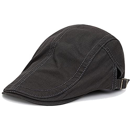 KeepSa Algodón Ajustable Boinas Hombre Gorras Plana Vintage Sombreros Verano Transpirable Gorras Planas Gorras Trucker 56-60CM