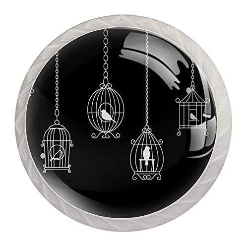 Wetia Cassetto dell Armadio a Forma di Fungo in Cristallo Tirare l armadio dell Armadio dell ufficio di casa manopola Bianca dell Armadio a Vite Gabbia per Uccelli 3,5 x 2,8 cm