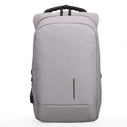 Wdonddonbb Uomini Zaino Moda Portatile Viaggi Casuale Anti Theft Sacchetto di Scuola Maschile Bagpack Pacchetto Design Shoulder Bag (Color : White)