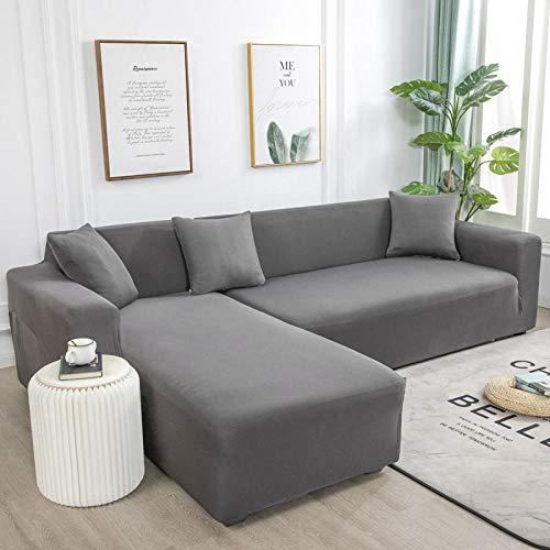 B/H Sofa Überwürfe Sofabezug Elastische,Für Wohnzimmer Elastic Spandex Couchbezug Stretch Sofa Handtuch L Form-Grey_3-Seat_and_3-Seat,Sofa Cover Sofaüberwurf L Form Sofa