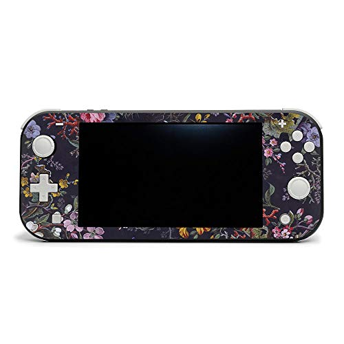 MightySkins Skin Compatible with Nintendo Switch Lite - Midnight Blossom | Protective, Durable, and Unique Vinyl Decal Wrap Cover | Easy to Apply, Remove, and Change Styles | Made In The USA