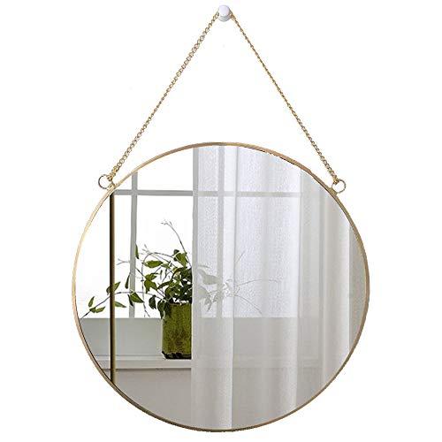 LucaSng Runder Spiegel Wanddeko Wandspiegel Badspiegel,Badezimmer Dekoration Mirror,Goldene Grenze Hängenden Spiegel Für Flur, Bad & Gäste Wc (40 x 40 cm)