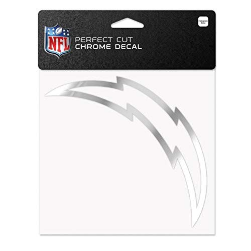 WinCraft NFL San Diego Chargers Chrome Perfect Cut Decal, 6 x 6, Black