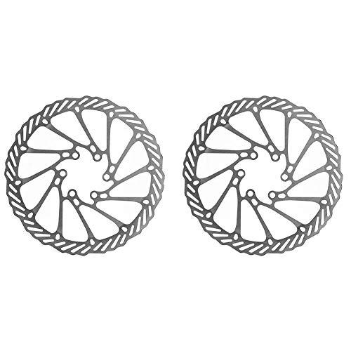 Pastilla de freno 1pc 160mm de acero inoxidable de acero del rotor de la bicicleta de freno de la bicicleta para el crucero de carretera de montaña MTB con 6 tornillos de montaje Frenos hidráulicos de