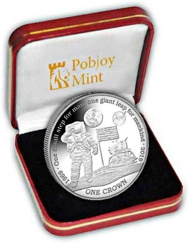 venderse como panqueques Ascension Island 2019 - Moneda de plata de ley a a a prueba de luna  autorización