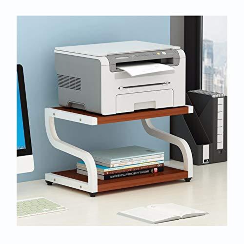 William 337 Bloemenrekken Flower Stand Office Bureau Bestand 2 lagen Opslag Rack Creatieve Printer Plank Moderne Minimalistische Ruimtebesparende Multi-layer Storage Rack