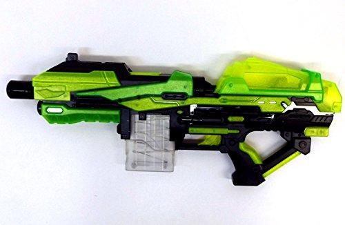 Brigamo 6555 - Luminous Blaster, Dartblaster mit Leucht Magazin Spielzeugblaster inkl. 20 Schuss leuchtender Munition gratis!