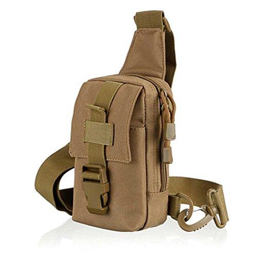 ruifu tactique poitrine Lot Croix Corps Militaire en nylon molle épaule simple sac de vélo de moto extérieur Sac de sport, Kaki