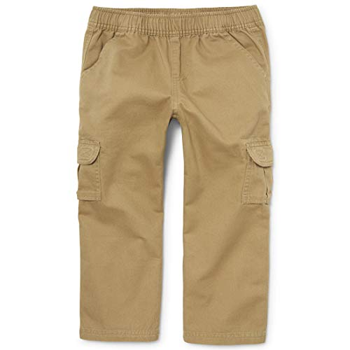 The Children's Place boys Pull On Cargo Pants, Flax, 16 husky