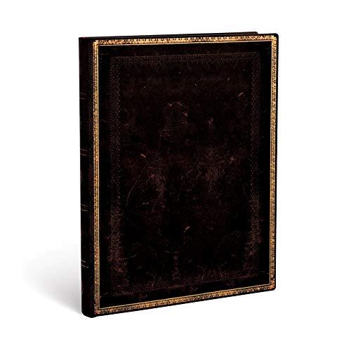 Paperblanks - Faux Leder schwarzes Marokkoleder - Notizbuch Ultra Flexi Liniert - 240 Seiten