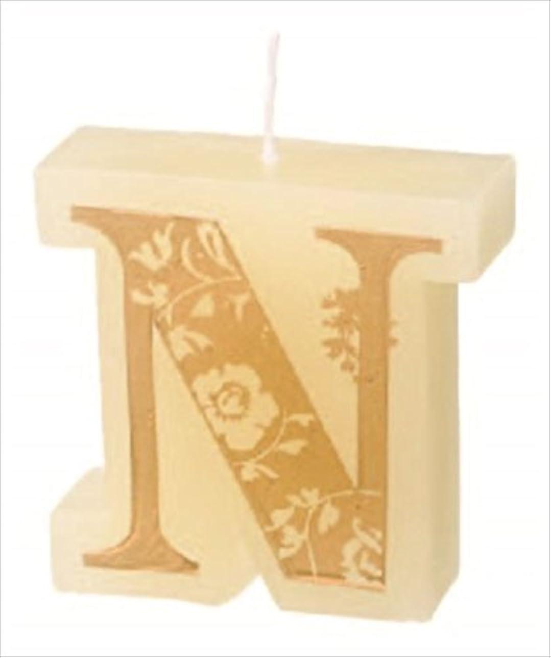 月曜針繰り返したカメヤマキャンドル(kameyama candle) イニシャルキャンドルミニ 「 N 」