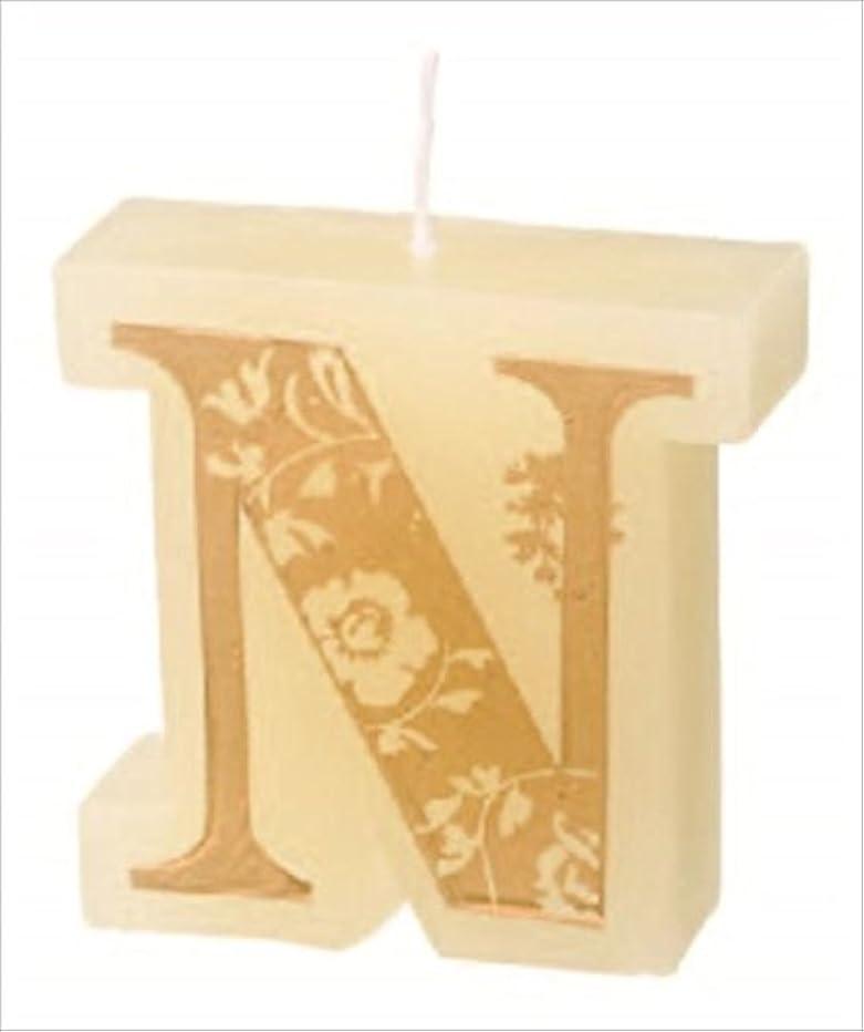 確かめる食事を調理するからカメヤマキャンドル(kameyama candle) イニシャルキャンドルミニ 「 N 」