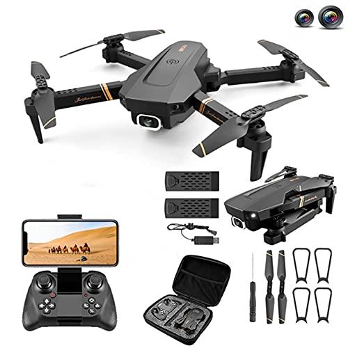 camera per drone wifi V4 Rc Drone 4K HD Dual Camera Grandangolare WiFi FPV Drone One Click Return Trasmissione in tempo reale Quadcopter Per adolescenti/Adulti/Principianti