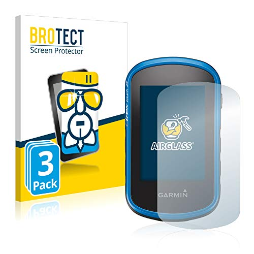 BROTECT Protector Pantalla Cristal Compatible con Garmin eTrex Touch 35 Protector Pantalla Vidrio (3 Unidades) - Dureza Extrema, Anti-Huellas