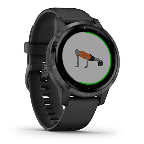 Garmin vívoactive 4S - Reloj Inteligente con GPS y Funciones de Control de la Salud Durante Todo el día, Color Negro