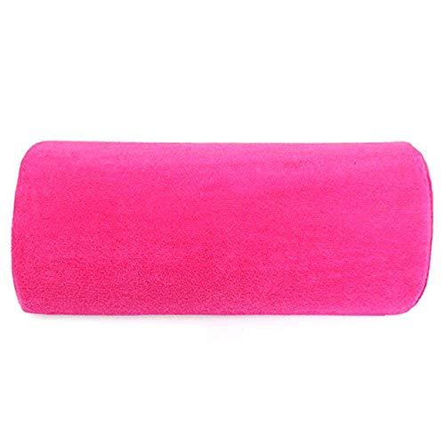 SODIAL Coussin Repose-main Oreiller Souple pour Nail Art Manucure - Rose Rouge